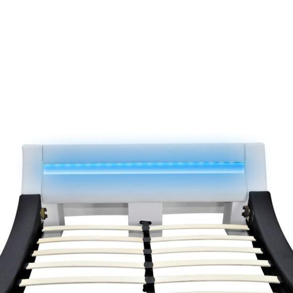 Bett + Memory-Schaum-Matratze LED Kunstleder 180×200 cm