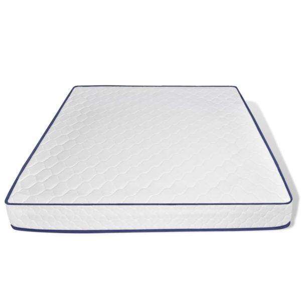 Bett + Memory-Schaum-Matratze LED Weiß Kunstleder 180×200 cm