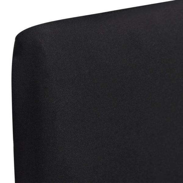 6 x Stuhlhusse Stretchhusse gerade schwarz