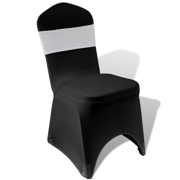 25 x Stretch Stuhlschleifen + Diamant Schnalle cremefarben