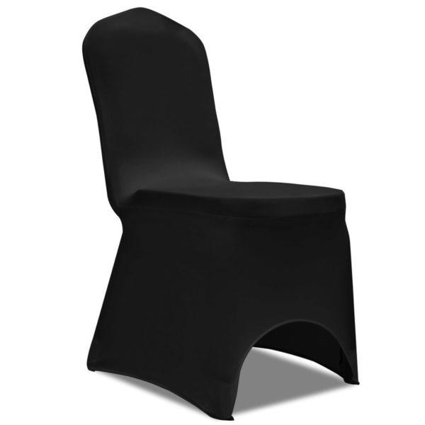 50 x Stuhlhusse Stretchhusse schwarz