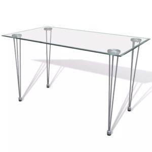 Esstisch mit Glasplatte Transparent