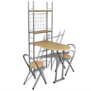 Frühstückstisch einklappbarer Küchentisch mit 2 Stühlen