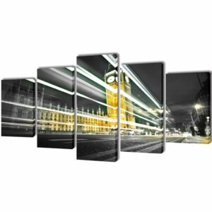Bilder Dekoration Set London Big Ben 100 x 50 cm