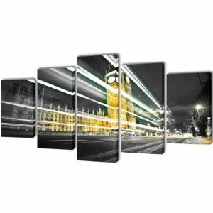 Bilder Dekoration Set London Big Ben 200 x 100 cm