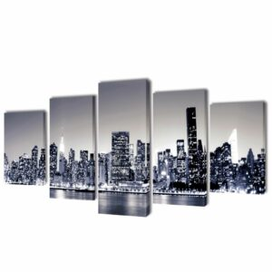 Bilder Dekoration Set monochrome New York 200 x 100 cm