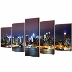 Bilder Dekoration Set New York in Farbe 100 x 50 cm