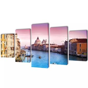 Bilder Dekoration Set Venedig 100 x 50 cm