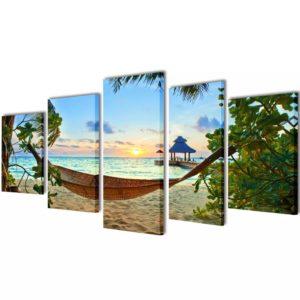 Bilder Dekoration Set Hängematte 100 x 50 cm