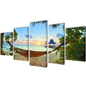 Bilder Dekoration Set Hängematte 200 x 100 cm