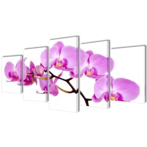 Bilder Dekoration Set Orchidee 200 x 100 cm