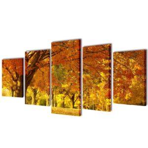 Bilder Dekoration Set Ahorn 100 x 50 cm