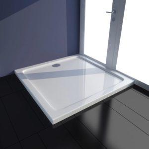 Duschtasse ABS Quadratisch Weiß 80×80 cm