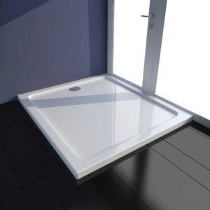 Duschtasse ABS Rechteckig Weiß 80×90 cm