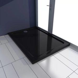 Duschtasse ABS Rechteckig Schwarz 70×100 cm
