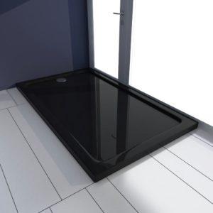Duschtasse ABS Rechteckig Schwarz 70×120 cm