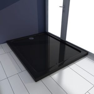 Duschtasse ABS Rechteckig Schwarz 80×100 cm