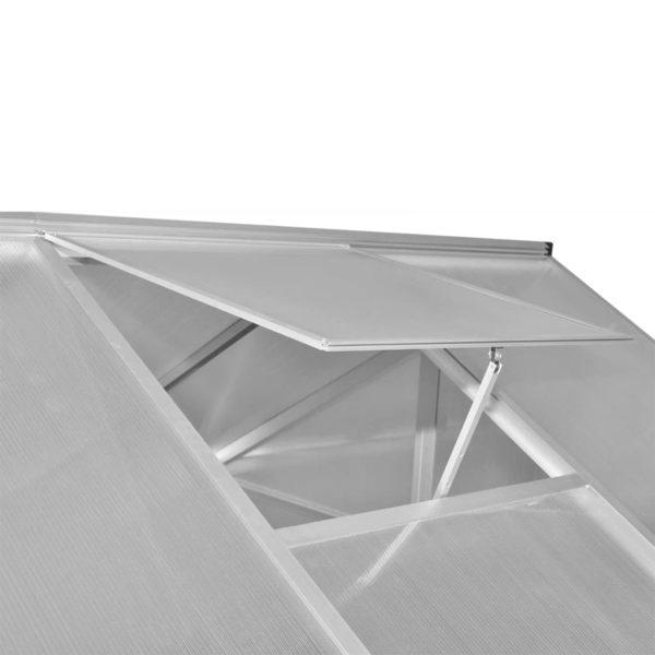 Verstärktes Gewächshaus Aluminium 7,55 m²