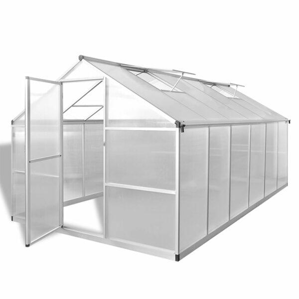 Verstärktes Gewächshaus Aluminium 9,025 m²