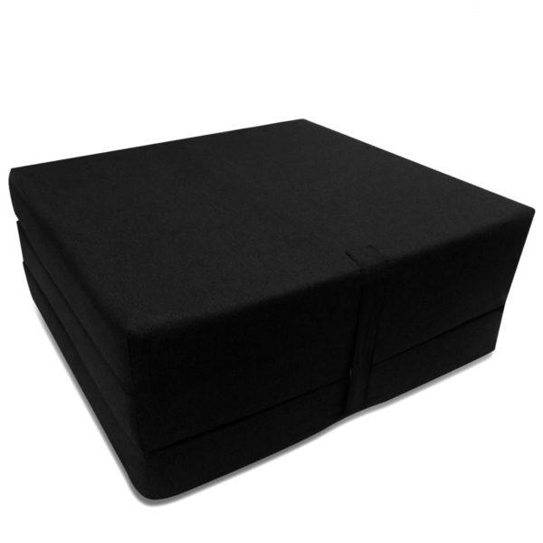 3-teilige Klappmatratze 190×70×9 cm Schwarz