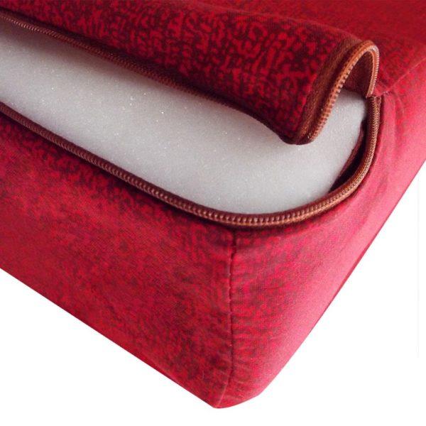 3-teilige Klappmatratze 190×70×9 cm Rot