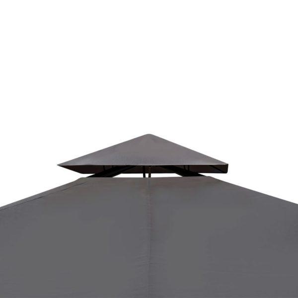 Gartenpavillon mit Dach 3 x 3 m Dunkelgrau