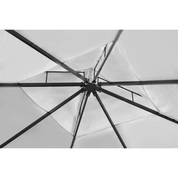 Gartenpavillon mit Dach 3 x 4 m Cremeweiß