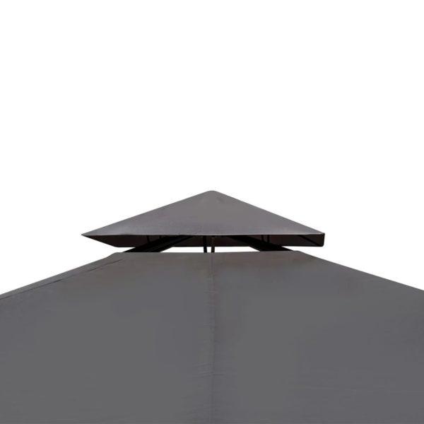 Gartenpavillon mit Dach 3 x 4 m Dunkelgrau