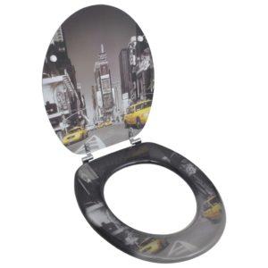 Toilettensitz WC-Sitz MDF New York Design