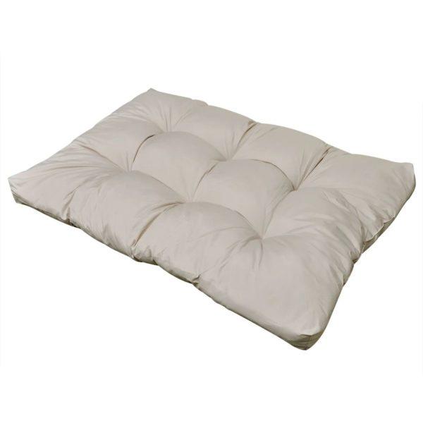 Gepolstertes Sitzkissen 120 x 80 x 10 cm sandweiß