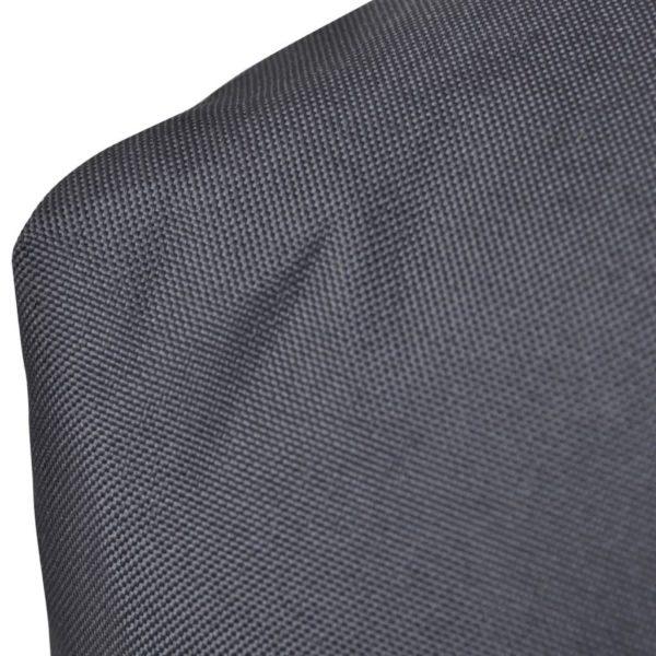 Gepolstertes Rückenkissen Grau 120 x 40 x 10 cm
