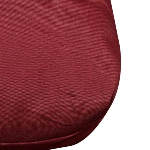 Gepolstertes Rückenkissen Weinrot 120 x 40 x 10 cm