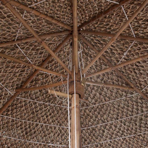 Bambus-Sonnenschirm mit Bananenblatt-Dach 270 cm