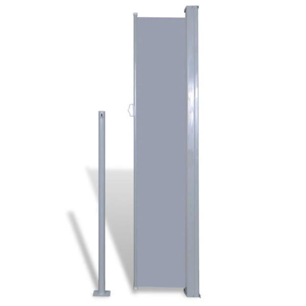 Einziehbare Seitenmarkise 160 x 300 cm grau
