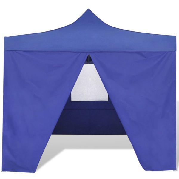 Faltzelt mit 4 Wänden 3 x 3 m Blau