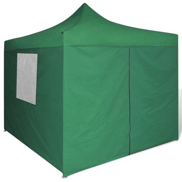 Faltzelt mit 4 Wänden 3 x 3 m Grün