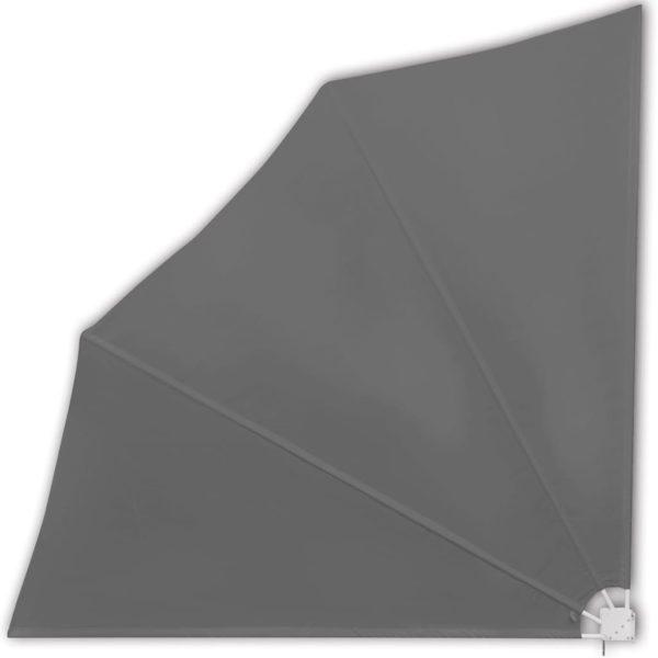 Faltbarer Balkonfächer Grau 140×140 cm