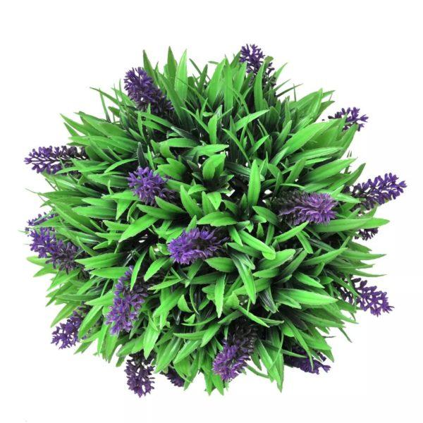 Buchsbaumkugel mit Lavendel 2 Stk. Künstlich 28 cm