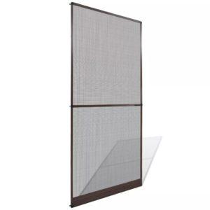 Insektenschutz mit Scharnieren für Türen 100 x 215 cm braun