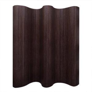 Raumteiler Bambus Dunkelbraun 250×195 cm