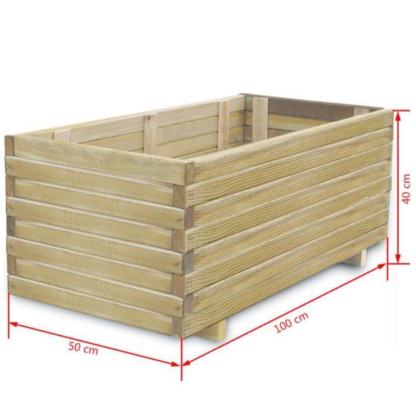 Hochbeet 100 x 50 x 40 cm Holz Rechteckig