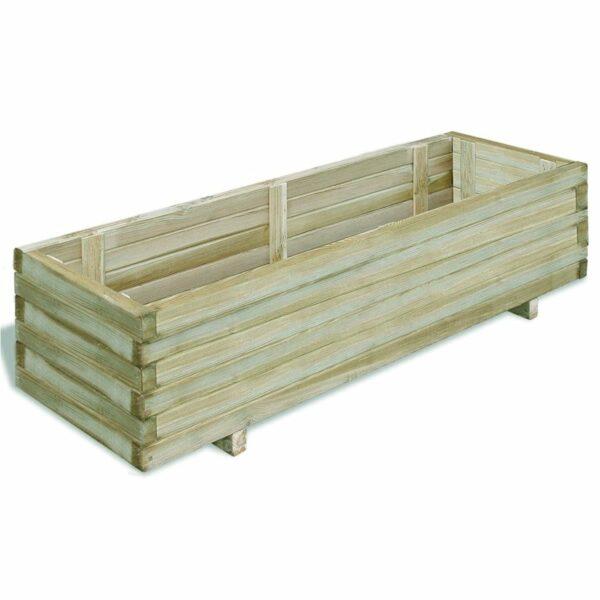 Hochbeet 120x40x30 cm Holz Rechteckig