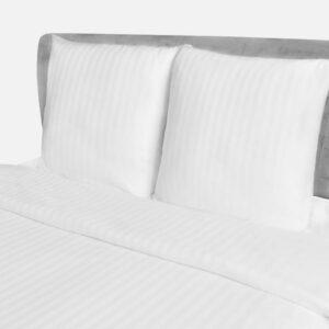 Baumwollsatin Gestreifter Bettbezug & 2 Kissenbezüge 200×220/80x80cm