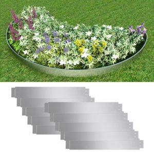 Flexible Rasenkante 10-er Set 100×15 cm Verzinkter Stahl