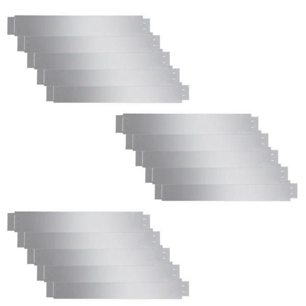 Flexible Rasenkante 15-er Set 100×15 cm Verzinkter Stahl