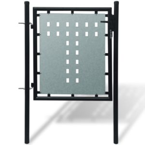 Zauntor Gartentor Einzeltor schwarz 100 x 125 cm