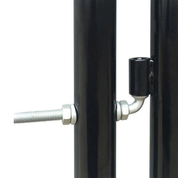 Zauntor Gartentor Doppeltor schwarz 300 x 150 cm