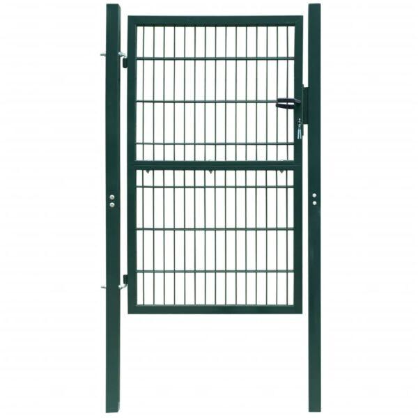 2D Zauntor (Einzeltor) grün 106 x 190 cm