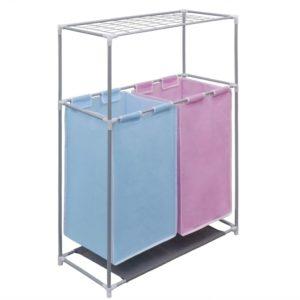 2-Kammer-Wäschekorb mit Trockengestell