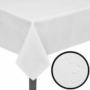 5 Tischdecken Weiß 170 x 130 cm